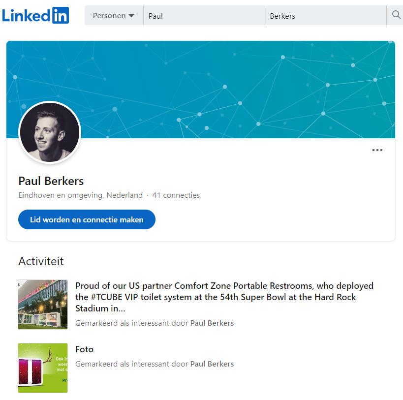 Paul Berkers LinkedIn